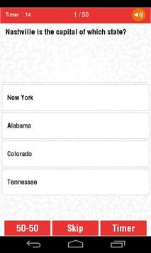 USA States and Capitals Quiz apk screenshot