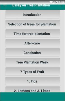 Essay on Tree Plantation poster