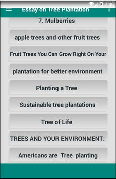 Essay on Tree Plantation screenshot 1