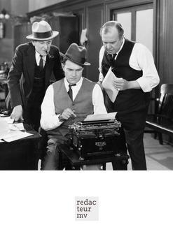 Redacteur M/V poster