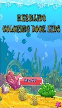 Mermaids Coloring Book Kids poster