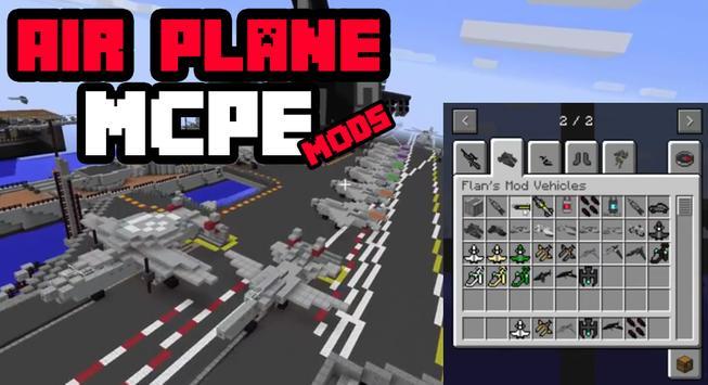 Airplane Mod MCPE 0.14.0 poster