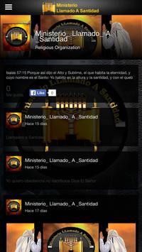 Ministerio Llamado a Santidad screenshot 9