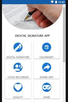 Digital Signature App poster