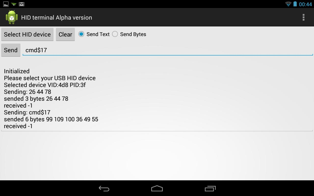 USB HID TERMINAL for Android - APK Download