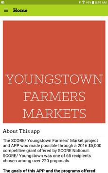Youngstown Farmer's Markets poster