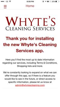 Whyte's Cleaning Services poster