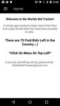 Worlds Bid Tracker apk screenshot