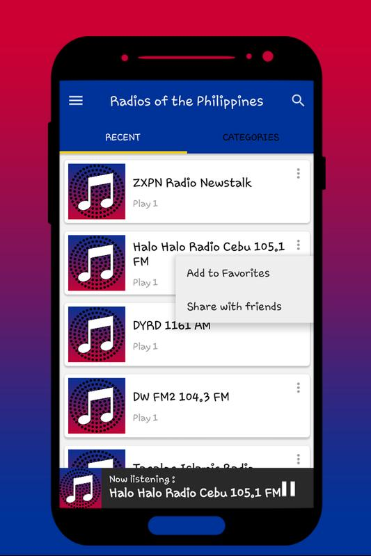 Philippines radios free fm music online 2018 for android apk.