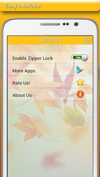 Autumn Zipper Lock apk screenshot