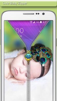Cute Baby Zipper Lock apk screenshot