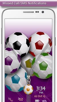 Football Zipper Lock screenshot 2