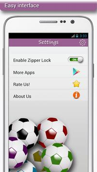 Football Zipper Lock apk screenshot