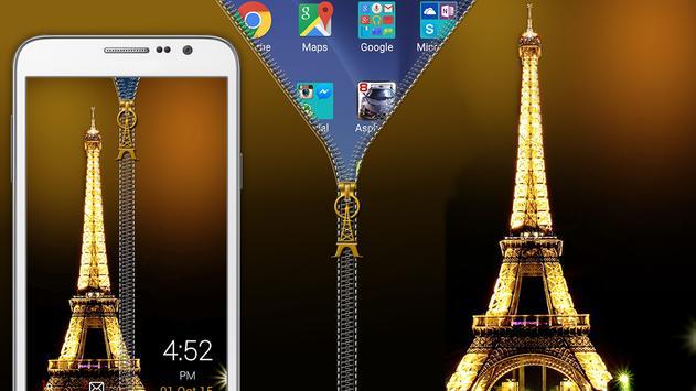 Paris Zipper Lock poster