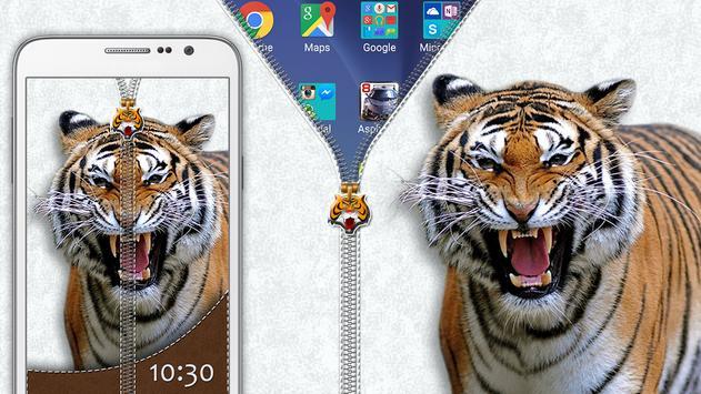 Tiger Zipper Lock poster
