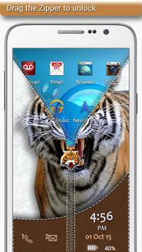 Tiger Zipper Lock screenshot 1
