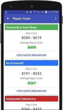 Ford Repair Estimates & Costs screenshot 2