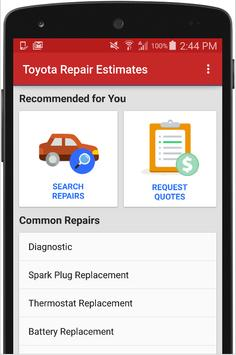 Estimates for Toyota Repairs poster