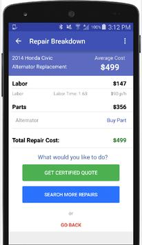 Estimates for Toyota Repairs apk screenshot