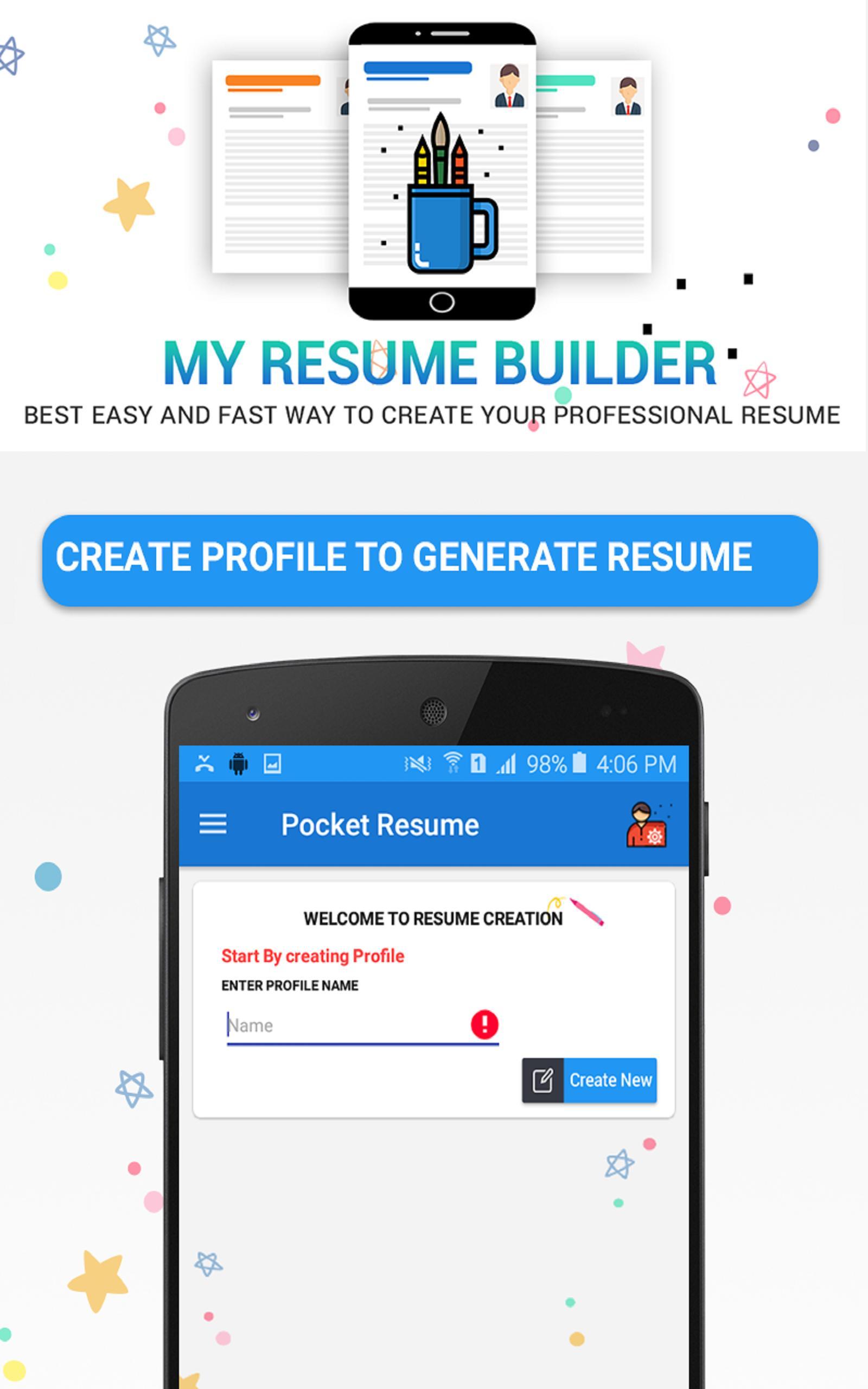 Pocket resume apk download resume entrepreneur