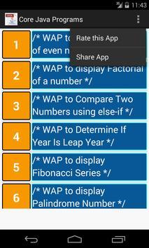 Core Java Programs screenshot 1