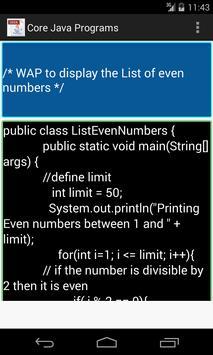 Core Java Programs screenshot 2