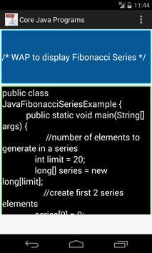 Core Java Programs apk screenshot