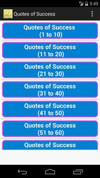 Quotes of Success poster