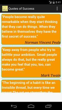 Quotes of Success apk screenshot
