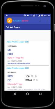 Cricket Score News apk screenshot