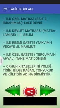 TARİH KODLARI apk screenshot