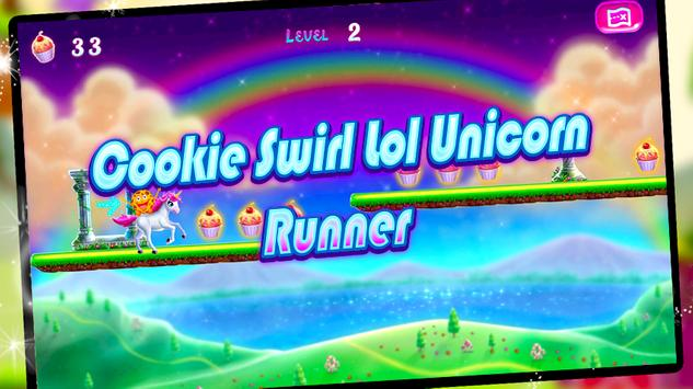 Cookie Swirl Lol Unicorn Run poster