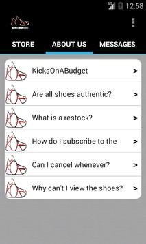 KicksOnABudget apk screenshot