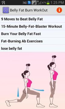 Belly Fat Burn Workout poster