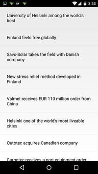 Finland Clock & RSS Widget apk screenshot