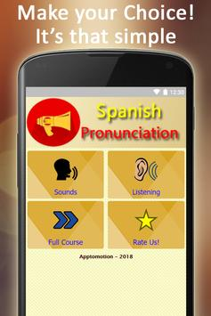 Easy Spanish Pronunciation - Audios and Listening poster