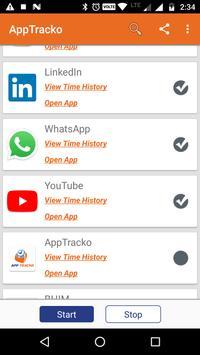 App Usage - AppTracko poster