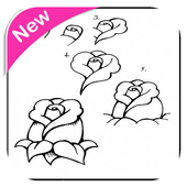 Step by step drawing icon