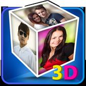 3D Cube Live Wallpaper Photo Editor icon
