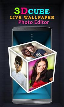 3D Cube Live Wallpaper Photo Editor poster