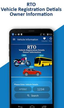 RTO - Vehicle Registration Details, Owner Info poster