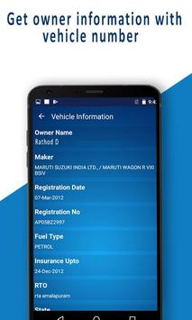 RTO - Vehicle Registration Details, Owner Info screenshot 2