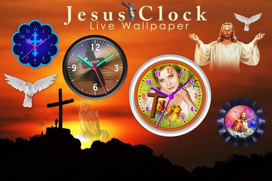 Jesus Clock Live Wallpaper, Photo Editor screenshot 8