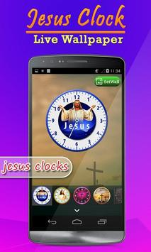 Jesus Clock Live Wallpaper, Photo Editor screenshot 1