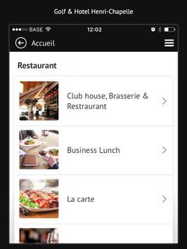 Golf & Hotel Henri-Chapelle apk screenshot