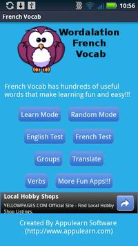 Wordalation French Vocab poster