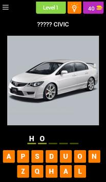 Car Quiz - Guess Missing Word poster