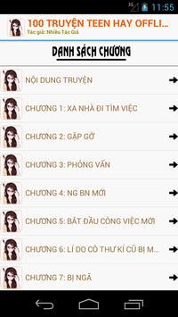 100 Truyện Teen Hay Nhất OFF screenshot 3