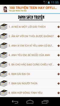 100 Truyện Teen Hay Nhất OFF screenshot 1