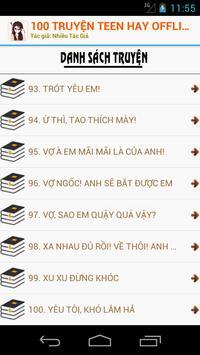 100 Truyện Teen Hay Nhất OFF screenshot 2